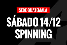 Sábado 14/12 Salón de Spinning no disponible